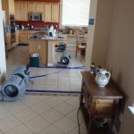 Drying flooded Kitchen