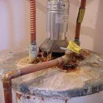 water heater top view