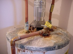 water heater top view