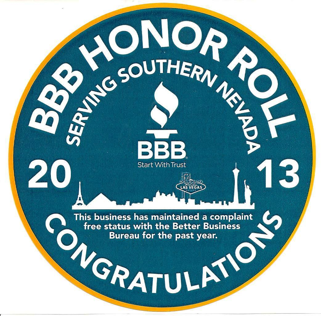 We are On The BBB Honor Roll