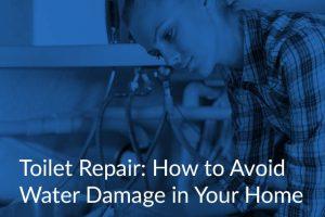 toilet repair water damage in home
